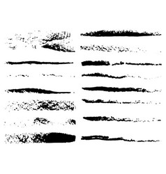 set grunge brushes vector image