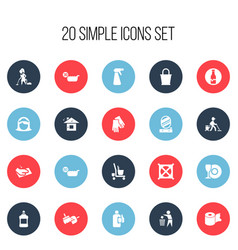 Set of 20 editable hygiene icons includes symbols vector