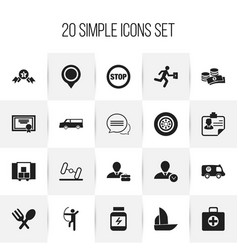 Set of 20 editable mixed icons includes symbols vector