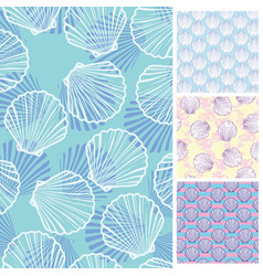 Set of seamless patterns backgrounds collection vector