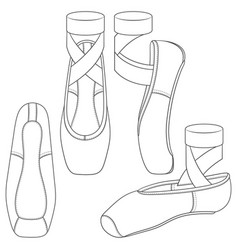 set with ballet shoes vector image