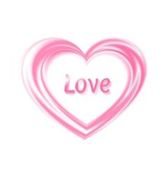 Silken heart vector
