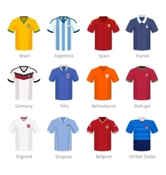 Soccer uniform or football of national teams vector