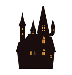 spooky haunted house vintage template vector image