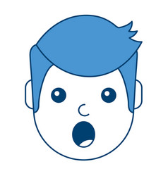 surprised man face expresion facial style vector image