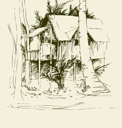 Tai bungalo vector image