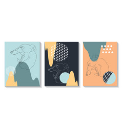 template covers are set with graphic geometric vector image