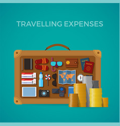 travel tourism expenses concept in flat style vector image