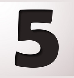 Volume icons number five vector