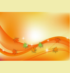 Wave and smoke background for autumn concept vector