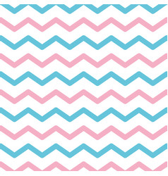 Zigzag lines pattern pink and blue background vector