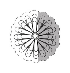 jasmine flower decoration cut line vector image vector image