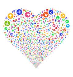 medical pharmacy fireworks heart vector image