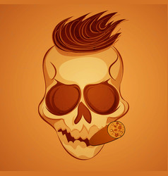 poster skull vector image