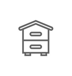 simple beehive line icon symbol and sign vector image vector image