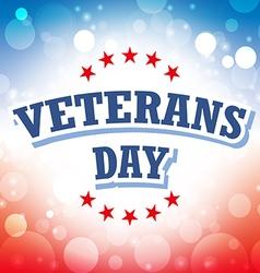 Veterans Day USA banner on celebration background vector image vector image