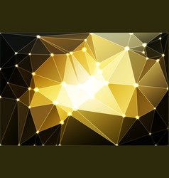 black gray yellow white geometric background with vector image vector image
