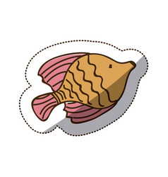 brown fish icon stock vector image