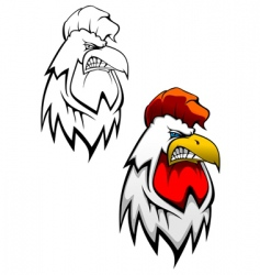 cock head tattoo vector image vector image