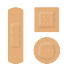 medical plaster on white background for design vector image