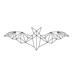 poligonal abstract bat vector image vector image