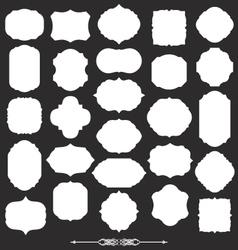 blank frame and label big set vector image