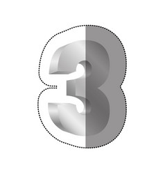color number three icon vector image