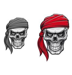 Danger pirate skull vector