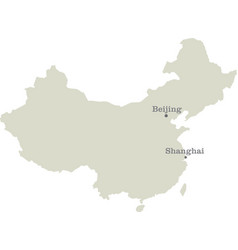 public republic of china map vector image vector image