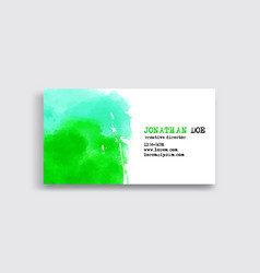 banners with green watercolor splash vector image