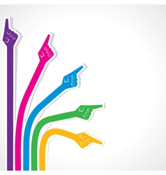 Creative colorful pointing hand vector image