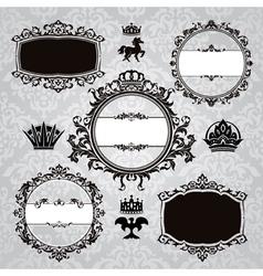 frames and vintage design elements vector image