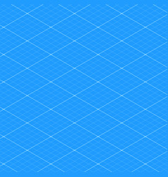 isometric blueprint grid seamless pattern texture vector image