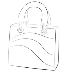 simple handbags on white background contour vector image vector image