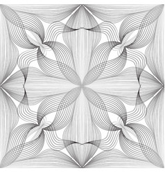 Abstract seamless floral linear pattern arabic vector