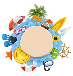 beach island concept vector image