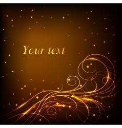 Beautiful gold pattern on dark background with vector