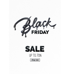 black friday sale label ad vector image