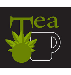 Black tea tag vector