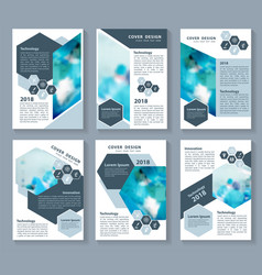 blue elements for infographics presentation vector image
