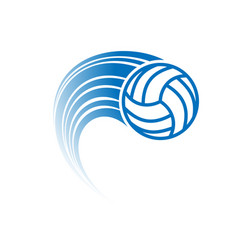 blue volleyball with track vector image