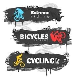 BMX Horizontal Banners Set vector image