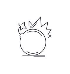 bomb line icon concept bomb linear vector image