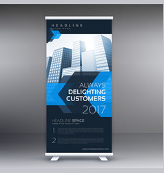 Business presentation roll up banner vector