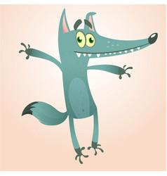 Cartoon wolf character vector