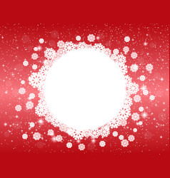 Celebratory red christmas design vector