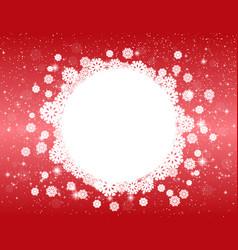Celebratory red christmas design vector