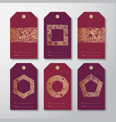 Christmas and new year ready-to-use gift tags vector