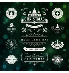 Christmas decorations design elements vector