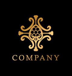 classy diamond with emblem logo creative concept vector image